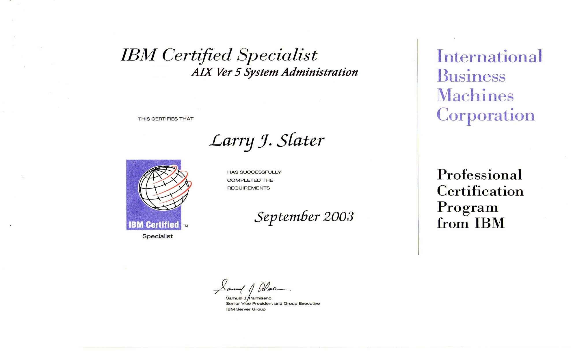 larry s resume page